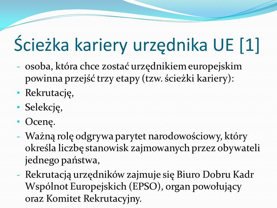Ścieżka kariery urzędnika UE [1]
